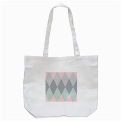 Modern Argyle Tote Bag (white)