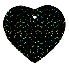 Splatter Abstract Dark Pattern Ornament (heart)