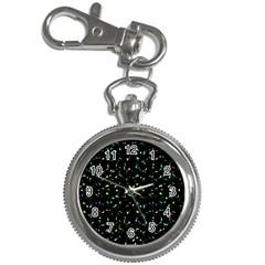 Splatter Abstract Dark Pattern Key Chain Watches