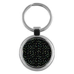 Splatter Abstract Dark Pattern Key Chains (round)