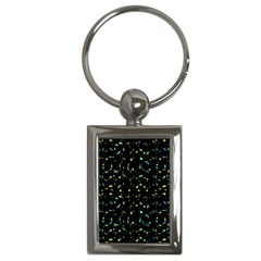 Splatter Abstract Dark Pattern Key Chains (rectangle)