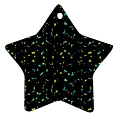 Splatter Abstract Dark Pattern Star Ornament (two Sides)