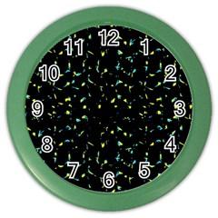 Splatter Abstract Dark Pattern Color Wall Clocks