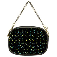 Splatter Abstract Dark Pattern Chain Purses (two Sides)