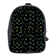 Splatter Abstract Dark Pattern School Bag (large)