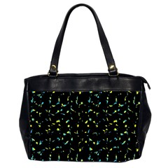 Splatter Abstract Dark Pattern Office Handbags (2 Sides)
