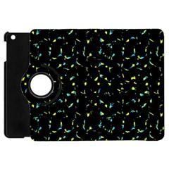 Splatter Abstract Dark Pattern Apple Ipad Mini Flip 360 Case