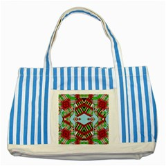 Digital Dot One Striped Blue Tote Bag