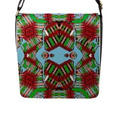 Digital Dot One Flap Messenger Bag (l)