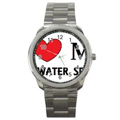 Irish Water Spaniel Love Sport Metal Watch