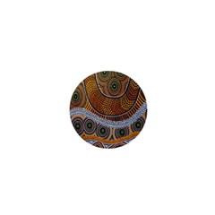 Aboriginal Traditional Pattern 1  Mini Buttons