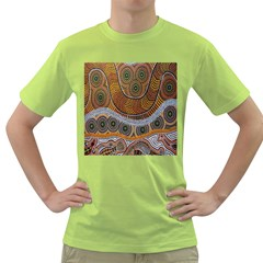 Aboriginal Traditional Pattern Green T Shirt