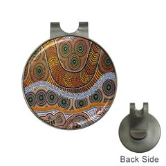 Aboriginal Traditional Pattern Hat Clips With Golf Markers
