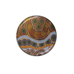 Aboriginal Traditional Pattern Hat Clip Ball Marker (4 Pack)