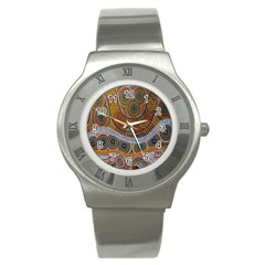 Aboriginal Traditional Pattern Stainless Steel Watch