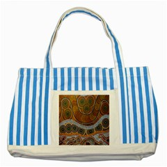 Aboriginal Traditional Pattern Striped Blue Tote Bag