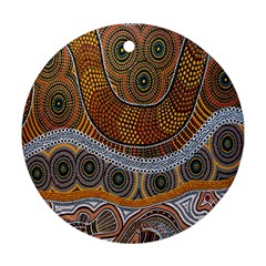 Aboriginal Traditional Pattern Round Ornament (two Sides)