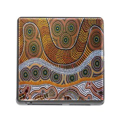 Aboriginal Traditional Pattern Memory Card Reader (square)