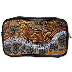 Aboriginal Traditional Pattern Toiletries Bags 2 Side