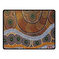 Aboriginal Traditional Pattern Fleece Blanket (small)
