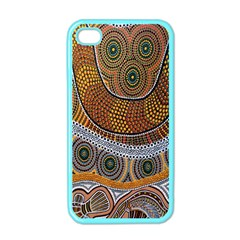 Aboriginal Traditional Pattern Apple Iphone 4 Case (color)