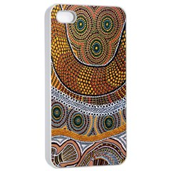 Aboriginal Traditional Pattern Apple Iphone 4/4s Seamless Case (white)