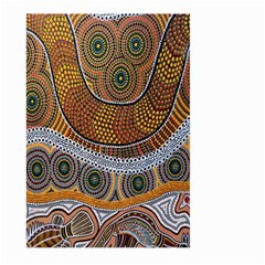 Aboriginal Traditional Pattern Large Garden Flag (two Sides)
