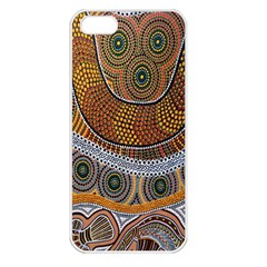 Aboriginal Traditional Pattern Apple Iphone 5 Seamless Case (white)