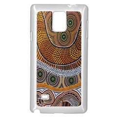 Aboriginal Traditional Pattern Samsung Galaxy Note 4 Case (white)