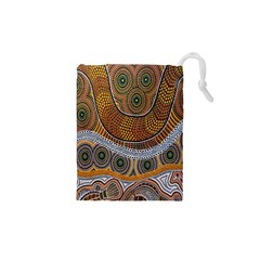Aboriginal Traditional Pattern Drawstring Pouches (xs)