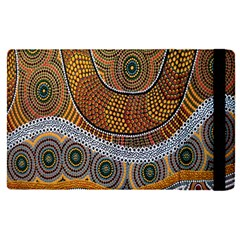 Aboriginal Traditional Pattern Apple Ipad Pro 9 7   Flip Case
