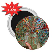 Traditional Korean Painted Paterns 2 25  Magnets (10 Pack)