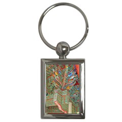 Traditional Korean Painted Paterns Key Chains (rectangle)
