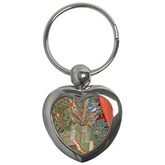 Traditional Korean Painted Paterns Key Chains (heart)