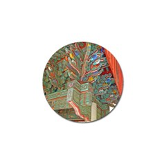 Traditional Korean Painted Paterns Golf Ball Marker