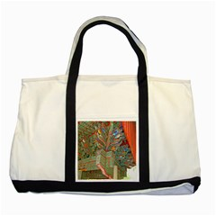 Traditional Korean Painted Paterns Two Tone Tote Bag