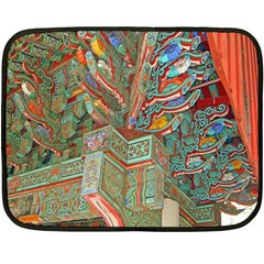 Traditional Korean Painted Paterns Double Sided Fleece Blanket (mini)