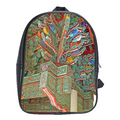 Traditional Korean Painted Paterns School Bag (large)