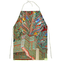 Traditional Korean Painted Paterns Full Print Aprons