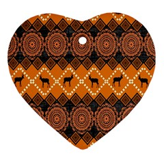 Traditiona  Patterns And African Patterns Ornament (heart)