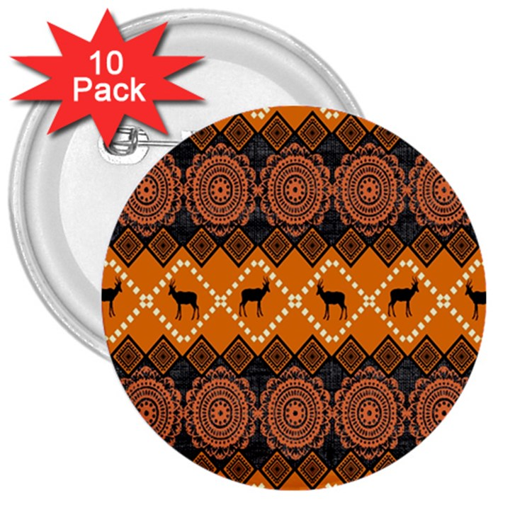 Traditiona  Patterns And African Patterns 3  Buttons (10 pack)