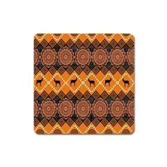 Traditiona  Patterns And African Patterns Square Magnet