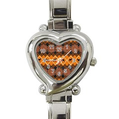 Traditiona  Patterns And African Patterns Heart Italian Charm Watch