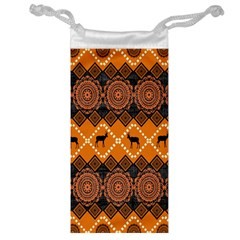 Traditiona  Patterns And African Patterns Jewelry Bag