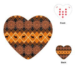 Traditiona  Patterns And African Patterns Playing Cards (heart)