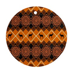 Traditiona  Patterns And African Patterns Round Ornament (two Sides)
