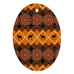 Traditiona  Patterns And African Patterns Oval Ornament (two Sides)