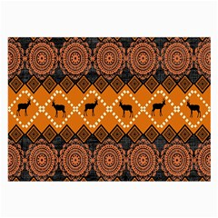 Traditiona  Patterns And African Patterns Large Glasses Cloth