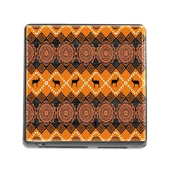 Traditiona  Patterns And African Patterns Memory Card Reader (square)