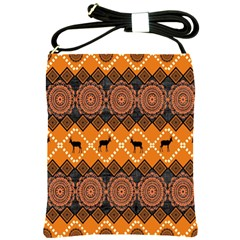 Traditiona  Patterns And African Patterns Shoulder Sling Bags